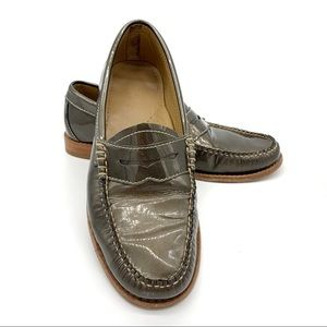 BASS WEEJUNS Whitney Bronze Patent Leather Loafer